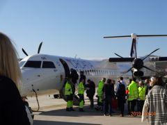 12/4 (水) 12:50 スプリット発クロアチア航空にてザグレブへ。 長距離バスでも行けるけど、飛行機の方が早いし、飛行機代も 1 万円もしなかったので、飛行機をチョイス。 しかし、スーツケース代が 150 クーナと結構なお値段だった。