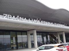 50 分のフライトを経てザグレブ空港到着