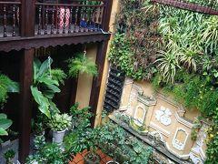 ホテルの中庭 雨に洗われてキレイ! 乾季のほこりっぽさよりいいかも!