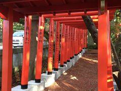 美術館向かいの石浦神社へも。金沢最古の神社。