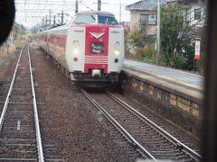 荘原で列車交換。