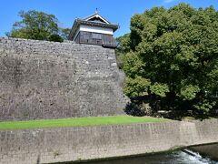 熊本城の平御櫓。 本来はこの近くからも城内に入れる筈だが、現在は入り口は閉鎖されている。