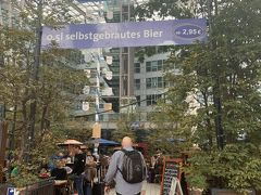 ここ!!エアブロイ!! 世界で唯一の空港にあるビール醸造所!! 空港にまでビールの醸造所なんて、ミュンヘンの皆様のビール愛を感じます。 そして10時半なのに、なかなかの人。そりゃー、飛行機乗る前はビールですよねー。