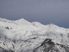 白馬三山 とりあえず雪があるという上部に