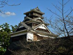 熊本城。 宇土櫓。 遠目には損傷は激しくない様に見えたが、矢張り損傷は激しかった。