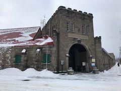 駅から徒歩3分で工場に到着。 近くて良かった…こんな雪の中を長時間は歩けん(脆弱)