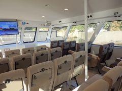 べんてん号に乗りこみます。  竹生島クルーズ(琵琶湖汽船) https://www.biwakokisen.co.jp/cruise/chikubu/#top
