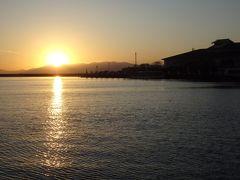 琵琶湖に沈む 迫力の夕日