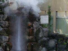 お隣りの龍巻地獄。間欠泉が時間になると吹き上がります。