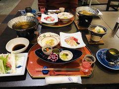 本日の宿泊は霧島観光ホテル お腹すいてたので、到着後、直ちに夕食