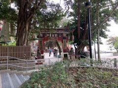 昼食後は再び香港島南部、市街地とは反対側へ行きます。まずは、レパルスベイの天后廟へ。ガイドさんが説明したいということで、連れていかれました。