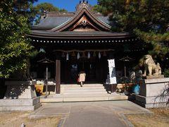姫路城の裏手に神社がありました。 その名も姫路神社。  大阪城の中にも豊国神社があるけれどちょっと不思議。