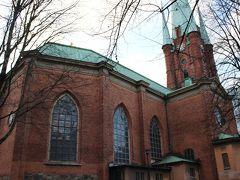 ストックホルム中央駅に近いS:ta Clara教会。