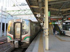 仙台駅で乗り継ぎ目的地を目指します。