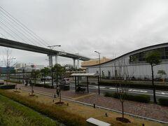 桜島駅は終点駅なので、駅の奥に線路はもうありません。