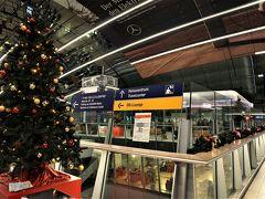 長距離駅もクリスマスの雰囲気。