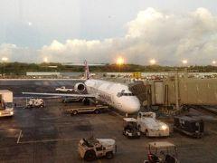 朝4時50分にホテルからのピックアップがあり、7時38分発のハワイアン航空153便でホノルルを発ちました。ほぼ満席でした。