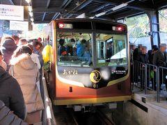 香里園から普通電車で石清水八幡宮駅へ。以前は八幡市という駅名でした。ここから石清水八幡宮を参拝するためのケーブルカーに乗り換えます。すごい参拝客でしたが、頻発運転ですぐに乗ることができました。