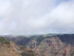 展望台を上がったところの正面に、ワイメア滝が見えました。