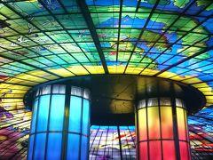 帰りは美麗島駅のステンドグラスを見て、 写真どころか動画まで撮ってホテルに戻りました(笑)  1日目、終了。
