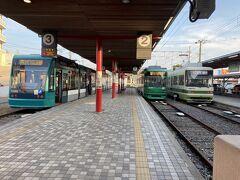 宮島口駅です。この辺りで西部警察広島ロケで路面電車が爆破されました。小学生の時に見て衝撃を受けました。