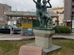 別日に新大宮駅から散策開始。駅前の銅像