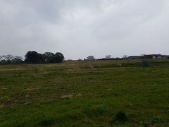 遠くに第一次大極殿が。平城宮跡はこんな広さです