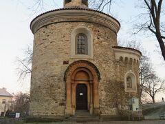 聖マルティン教会のロトンダ。  プラハで最も古いロマネスク様式の建築物で、1100年頃の建造らしいです。