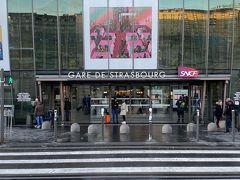 ストラスブール駅 パリのストライキに当たってしまい普通電車で2時間半かけてルクセンブルグに帰りました。