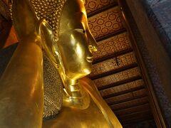 続いてはワットポー! 全長46mの寝釈迦仏です!
