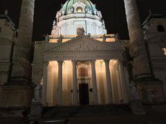 19:30頃 カールス教会でクラッシックコンサート  ホテルから徒歩20分程度です。