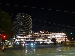 桜町の再開発で熊本交通センター跡地に出来た 「SAKURA MACHI Kumamoto」の建物外観夜景