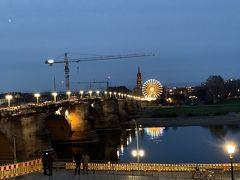 アウグストゥス橋を渡ると新市街です。 アーチの素敵な橋ですが、工事中で残念でした。