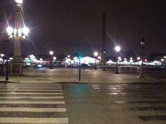 凱旋門から1km強東へと進み、やってきたのはコンコルド広場。
