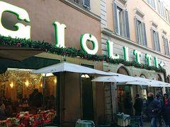 アントニオではデザートを食べず、近くの有名ジェラテリアに。ここも激混みで支払いに行列、注文に行列でしたが、美味しかった。