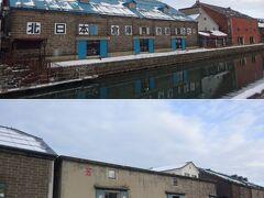 運河に突き当たり、進路を右へ。  運河に沿って、かつての倉庫街が。  ( ´・ω・)b 次の一万円札の肖像に決まった、渋澤さんの倉庫も。