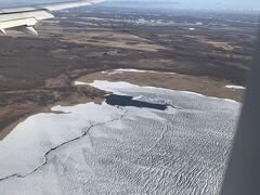 雪は少ないけど寒そうな新千歳空港周辺。 今回の旅行も無事終わりました。
