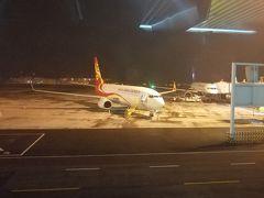 たぶん奥に止まっているのが乗って来た中国西部航空便。 重慶も大きな空港ですね。