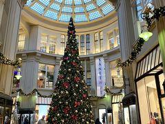 メドラー パサージュ (Maedler Passage)の立派なクリスマスツリーです。 ゲーテゆかりの酒場のあるアーケードとして 観光名所です。