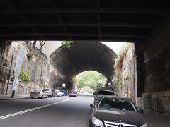 流刑者が造ったトンネル。アーガイル・カットがありました。