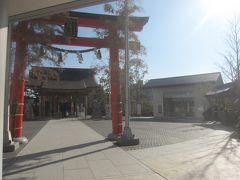 郵便局の上にあった神社 なんか不思議な感じ… 以前この場所にあって再開発かかったんで、こんな風になっちゃったみたいです