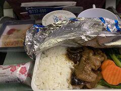 宮崎から台北(桃園) チャイナエアライン機内食往路 選択肢はなく、復路も似たような感じ。こだわりないのでありがたくいただく。