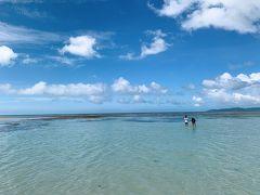 コンドイ浜は遠浅なので、 どこまでも歩いて行ける気分になる! 特にこの時は潮が引いていたのでスーパー遠浅でした。
