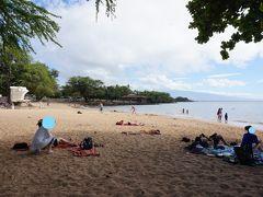 Pu'ukohola Heiau(ヘイアウ)のすぐ傍にあるSpencer Beach。ここは19号線を左折した270号線沿いの左手にある。