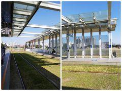 ▽哈瑪星駅  地下鉄の西小湾駅の直ぐ裏にライトレールの始発駅がある。  ホームには電車を待っている人が数組。 15分間隔で運行しているので、暫くしたら小さな電車が入ってきた。
