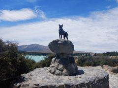 パウンダリーの犬の像。牧羊犬の像です。