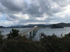 角島大橋を渡った先の瀬崎陽の公園に車を止めて角島大橋を一枚。う~ん、今一つ