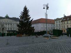 緑の広場(キャベツ市場)。市場になっているときに行ってみたかったです。ただ、大きなクリスマスツリーがそびえ立っていました。