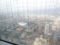 台北101レストラン『頂鮮101』86階からの景色 下に建設中の台北ドームも見えます