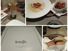 夕食は、『Knolls』で、イタリアンをいただきました。 ボリュームも多くなく、私たちには、ちょうど良かったです。